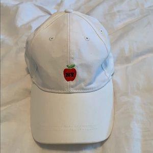 White New York hat